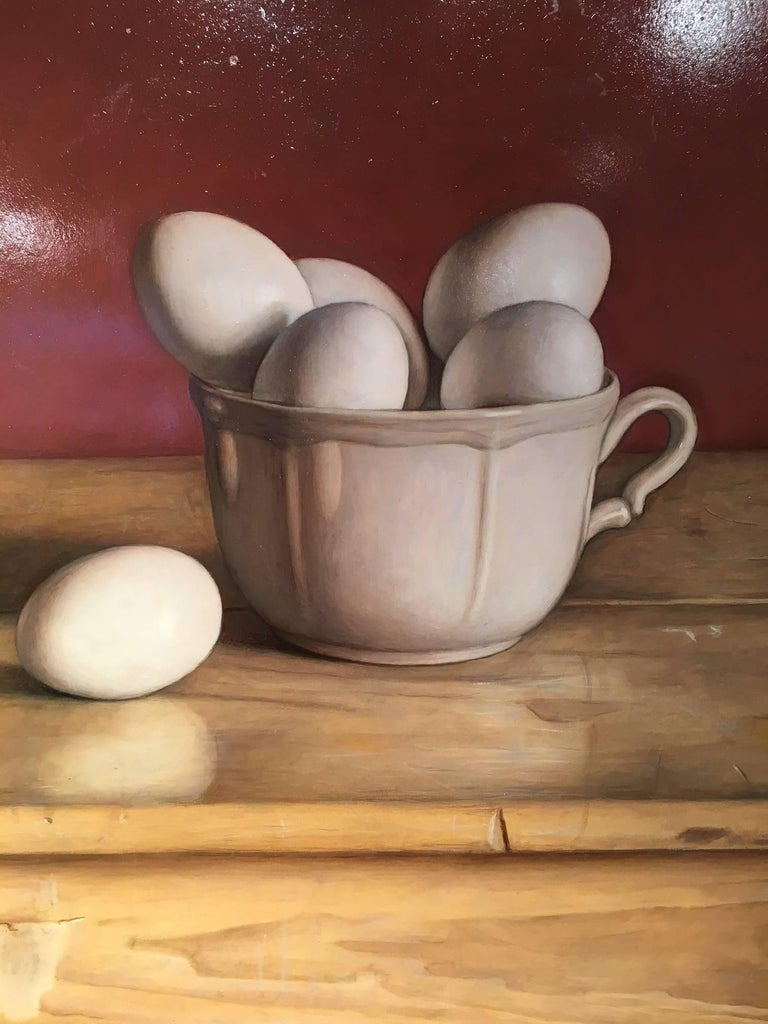 Half a Dozen or More  - Brown Still-Life Painting by Mark Lijftogt