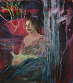 Fauno Symphony (also called Pastoral Symphony), Figurative Mixed Media Painting