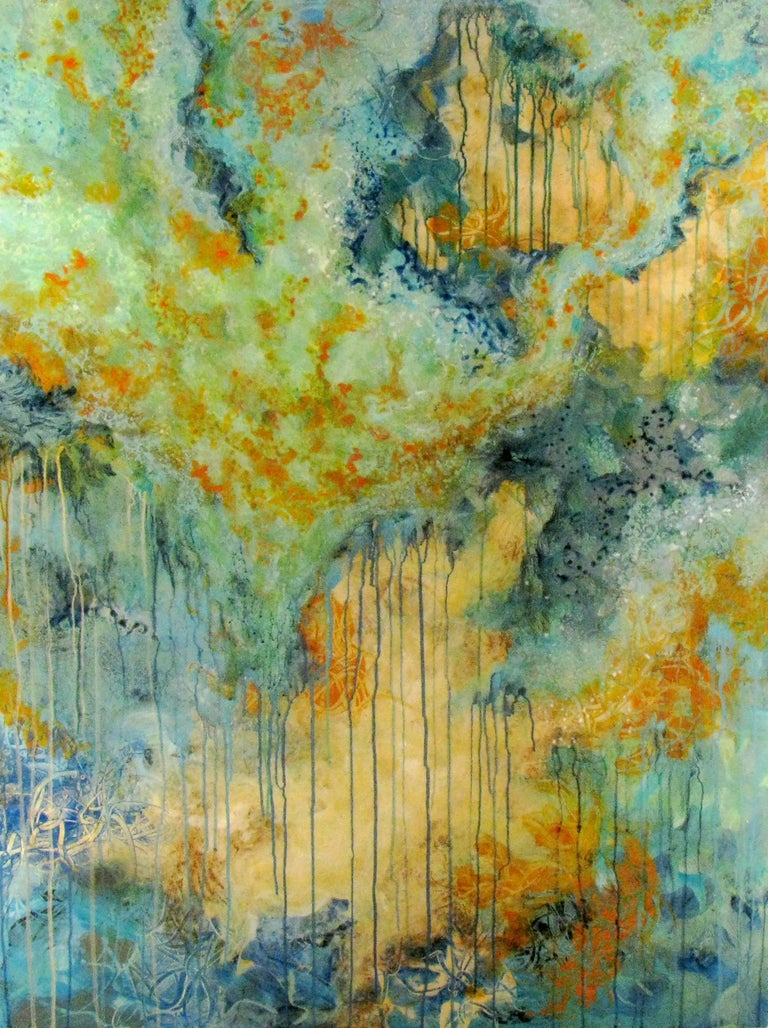 Bonnie Teitelbaum - Forest Rain, Abstract Painting, Painting For ...