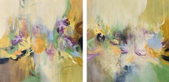 Chrysalis 272 & 273, Set of Abstract Paintings