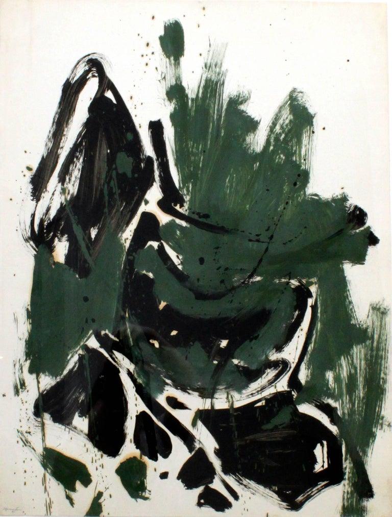 Matsumi Kanemitsu - Abstraction (Green, Black, Brown) 1