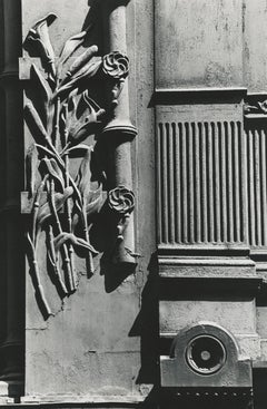 untitled, vintage black and white print of NYC building exterior & architecture