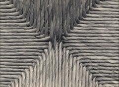 Nádfonat II, (Wicker Design), vintage black and white print of wicker pattern