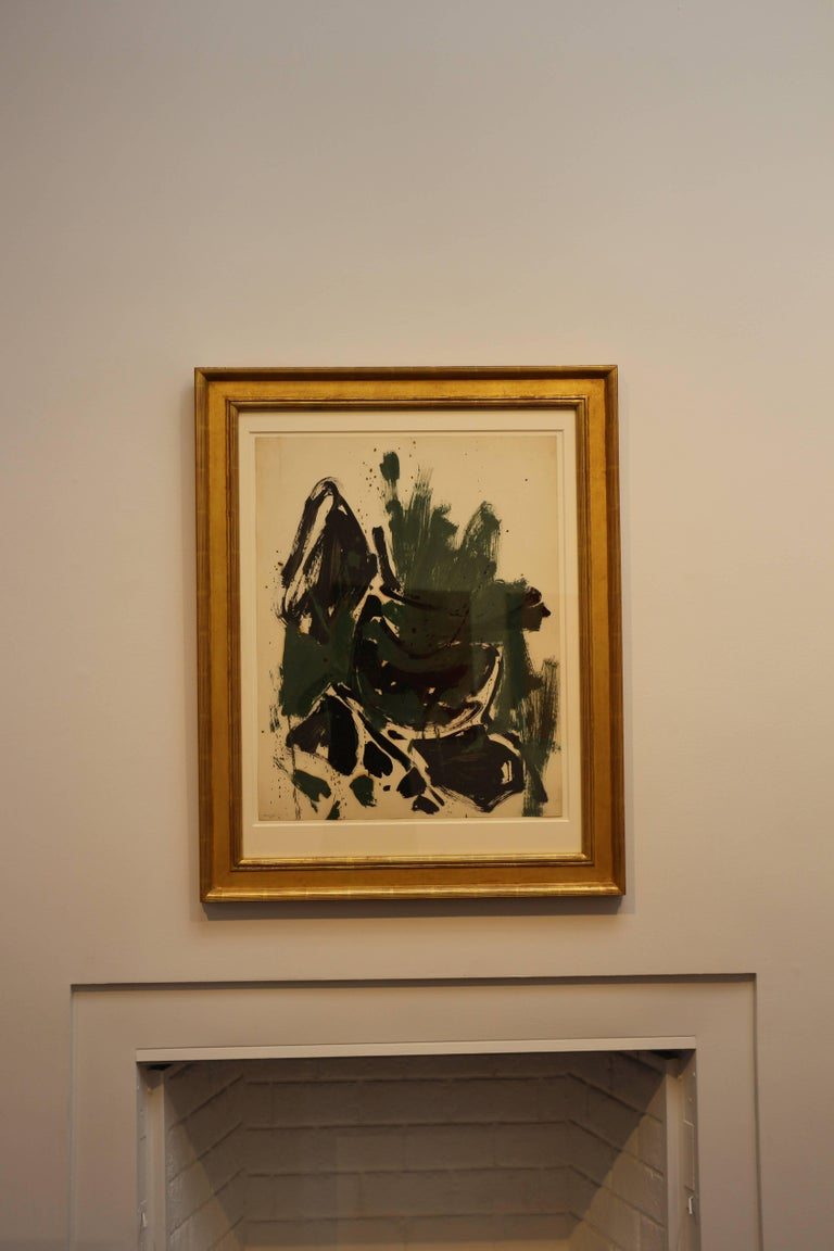 Abstraction (Green, Black, Brown) 2