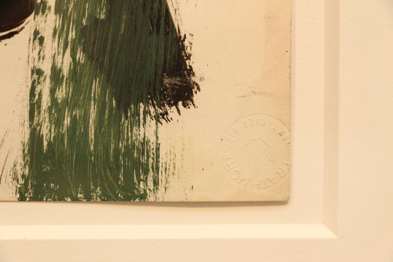 Abstraction (Green, Black, Brown) 8