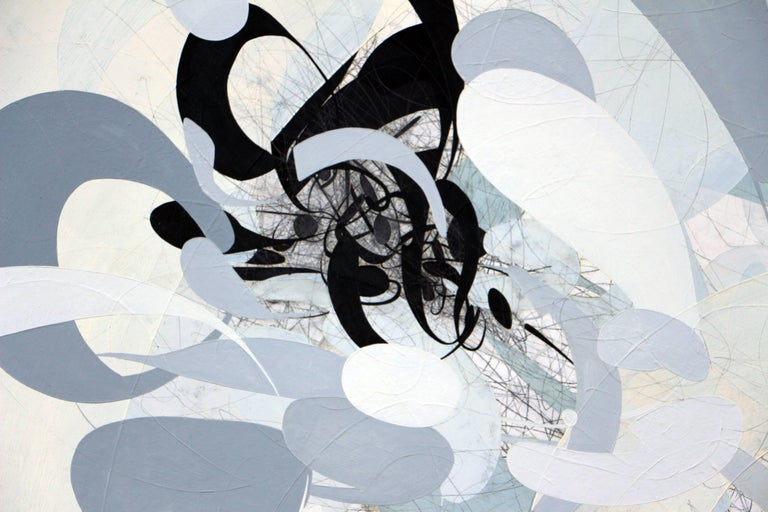 Map of Los Angeles - Gray Abstract Painting by Seann Brackin