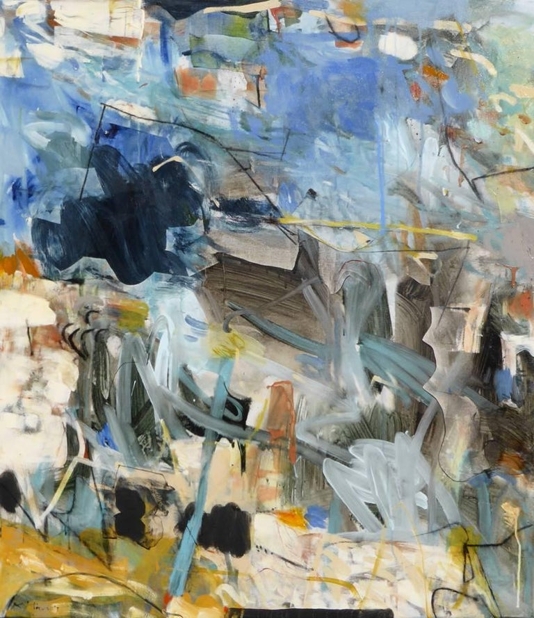 Krista Harris Abstract Painting - Eclipsed, 2017, Mixed-Media Abstract on Canvas