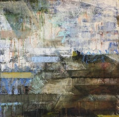 At Long Last, Oil and Mixed Media Abstract on Panel