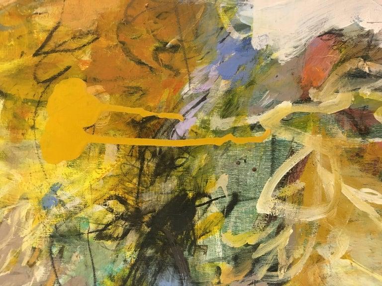 Casita 22, 2017, Acrylic & Mixed-Media Abstract on Linen - Painting by Krista Harris