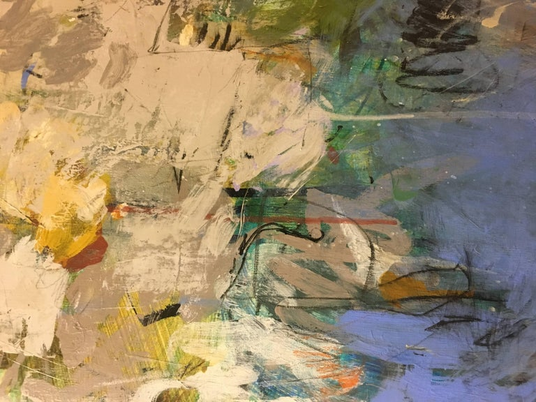 Casita 22, 2017, Acrylic & Mixed-Media Abstract on Linen - Abstract Expressionist Painting by Krista Harris