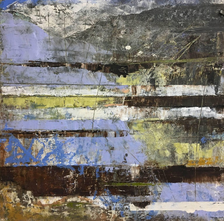 Leeward, Oil and Cold Wax Abstract on Panel