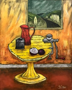 Still Life with Red Jug - by Cubist, Fauvist inspired British Artist