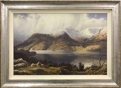 British Landscape Painting of Glencoyne Ullswater English Lake District Cumbria