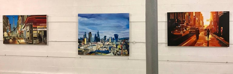 Original Painting City of the London Skyline by Collectible British Urban Artist For Sale 1