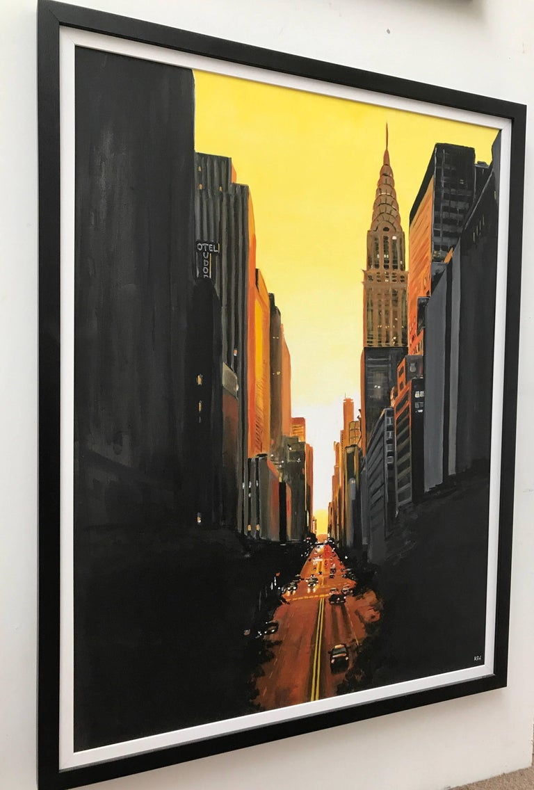 42nd Street New York Series Cityscape Painting by British Urban Landscape Artist For Sale 2
