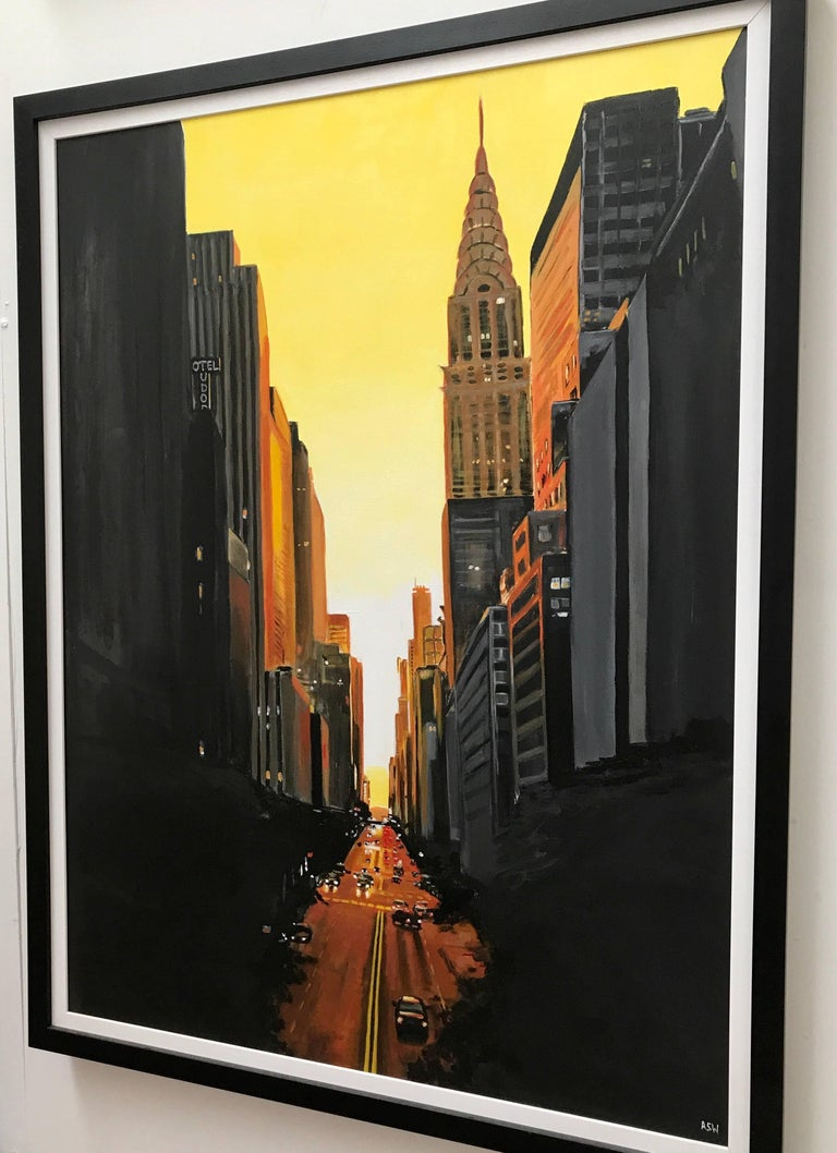 42nd Street New York Series Cityscape Painting by British Urban Landscape Artist For Sale 1