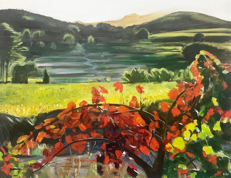 Penedès Vineyard Spain European Landscape by British Artist Angela Wakefield