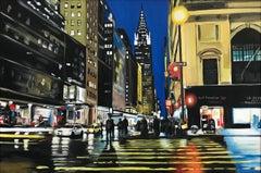 Chrysler Building New York Cityscape Painting by British Urban Landscape Artist