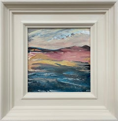 Miniature Abstract Beach Seascape Landscape Study by Contemporary British Artist