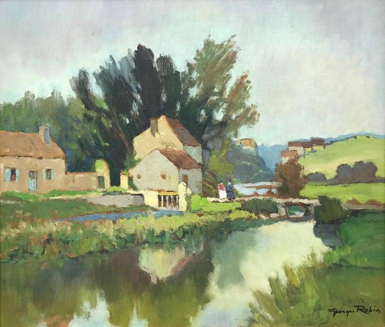 Moulin de Charbonneau – Sèvre Nantaise French Post-Impressionistic Landscape
