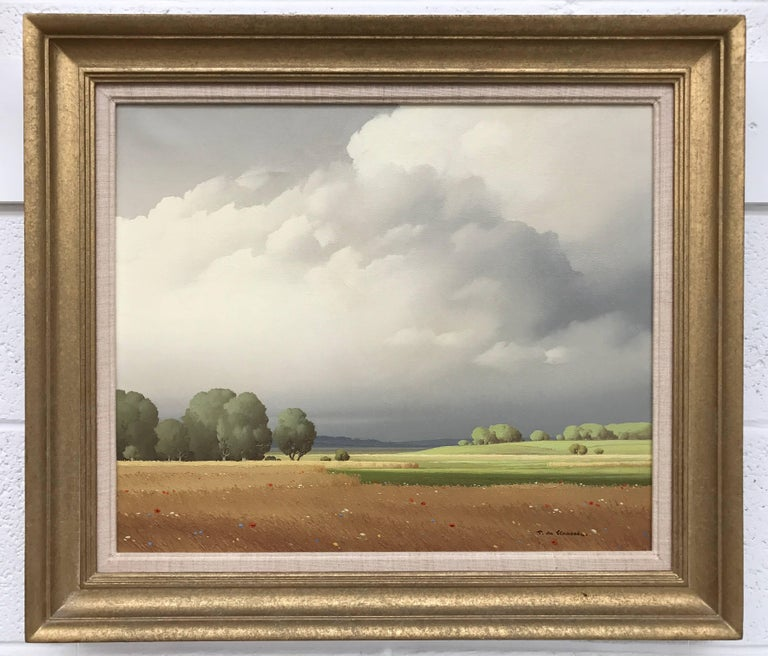 Ciel de France - 20th Century Landscape Painting by Paris Salon Artist For Sale 2