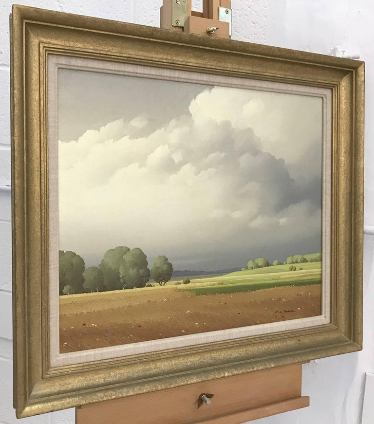 Ciel de France - 20th Century Landscape Painting by Paris Salon Artist For Sale 3