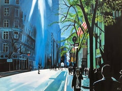 Blue Sky New York City Sun by Leading European Urban Street Landscape Artist