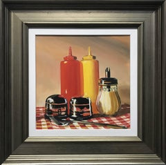 Americana Still Life Painting of New York Diner by Leading British Urban Artist