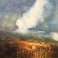 Northern Moorland Impasto Landscape Oil Painting by British En Plein Air Artist