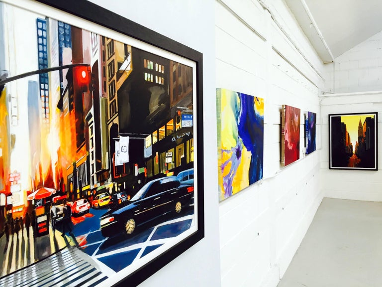 42nd Street New York Series Cityscape Painting by British Urban Landscape Artist For Sale 3