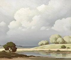 Vue sur la Loir 20th Century Landscape Painting Award Winning Paris Salon Artist