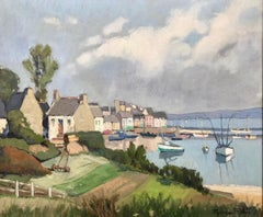 Douarnenez Brittany France by French Post-Impressionistic Landscape Artist