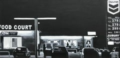 Americana Series Food Court Painting by Edward Hopper Inspired British Artist