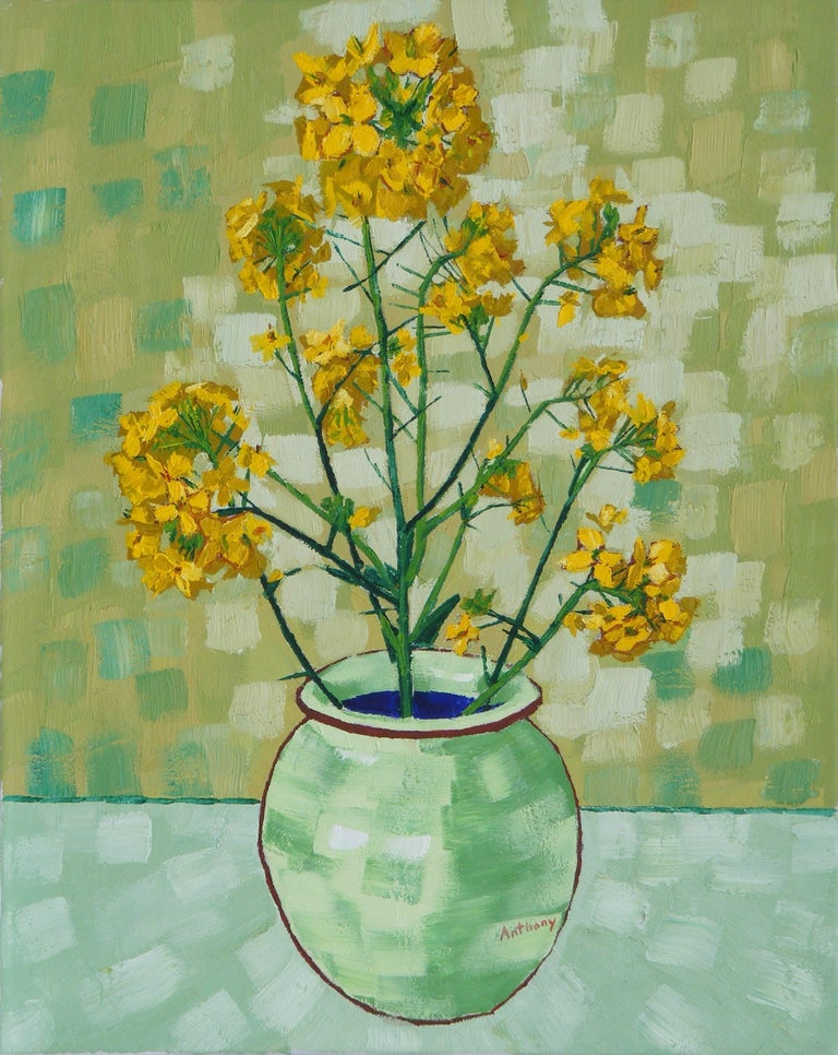 Anthony D Padgett Rapeseed Still Life Vase With Fourteen