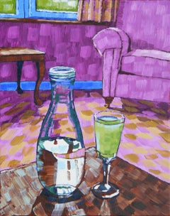 Still Life with Absinthe 2017 by Anthony D. Padgett after Van Gogh Paris 1887