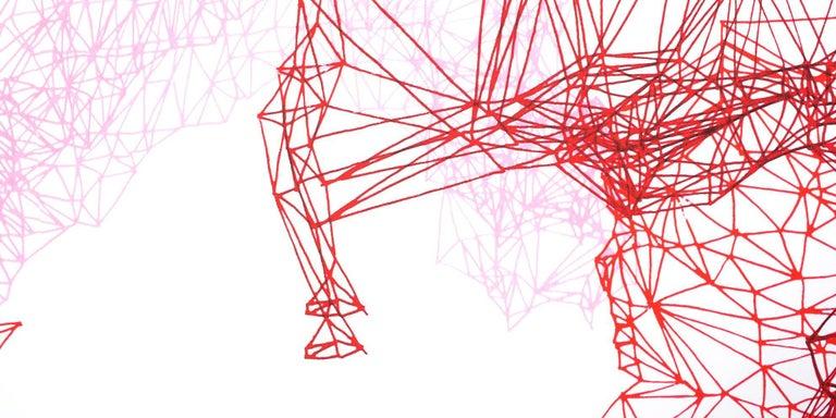Composition Rose - Contemporary Print by Eva Beierheimer