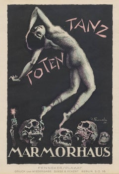 Totentanz by Josef Fenneker, Antique Poster for German Silent Film by Fritz Lang