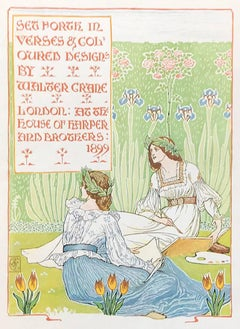 A Floral Fantasy (Original Title Page) by Walter Crane, 1899 Lithograph