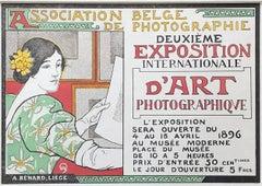 Deuxième éxposition international d'art by Auguste Donnay, 1896 Japon Lithograph