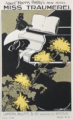 Miss Traumerei by Ethel Reed, 1895 Les Maitre de L'Affiches Japon Lithograph