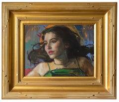 Florine by Gail Potocki, Symbolist Oil painting on canvas