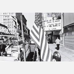 Flag, Movie Marquee, Spokane Washington, 1979