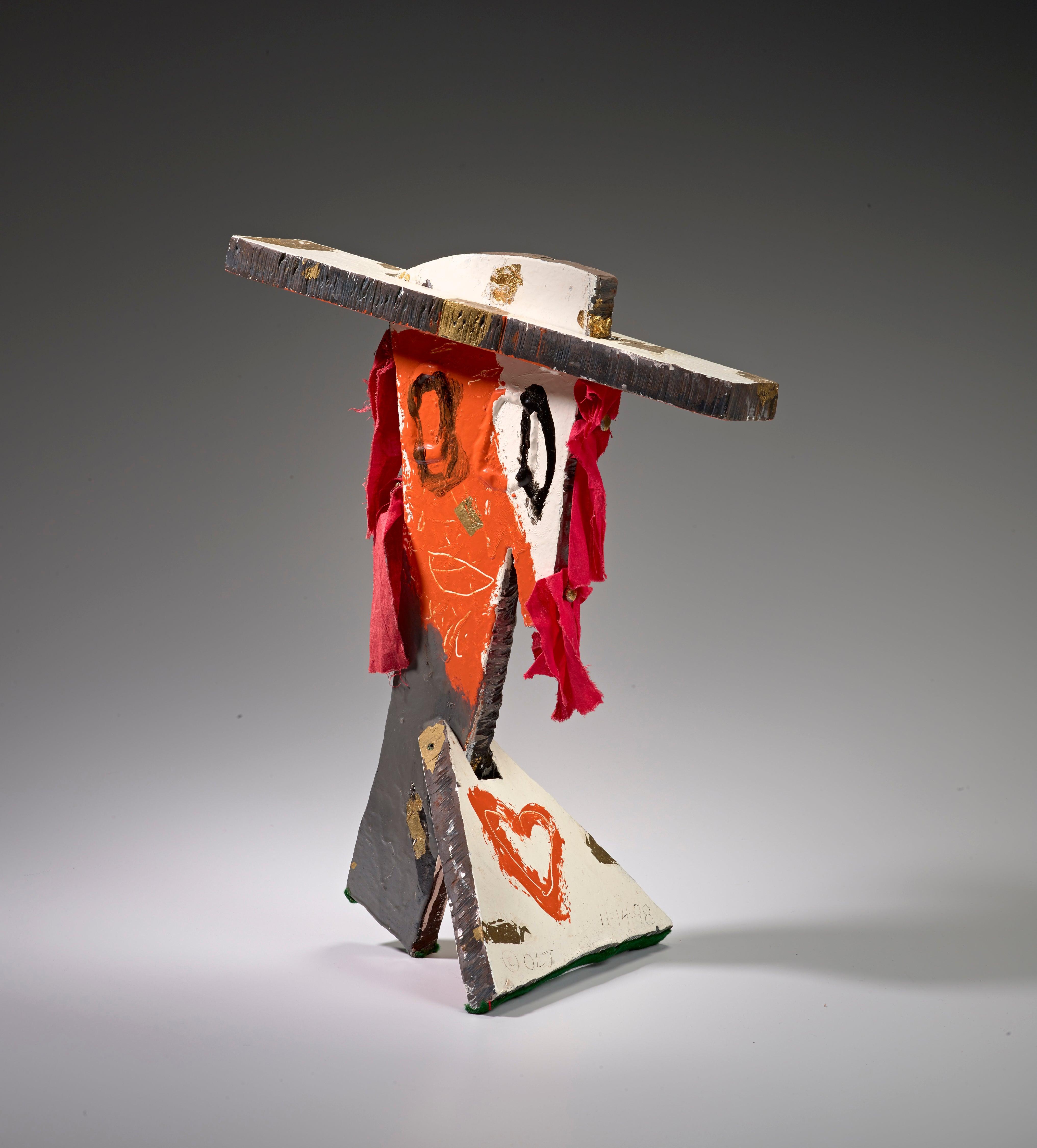 Bust VI (Figurative Mixed Media Sculpture)