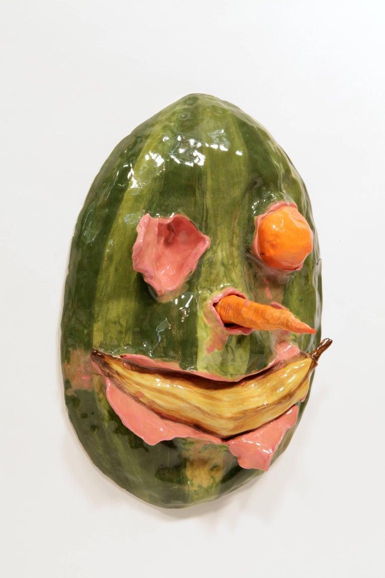 Watermelon Head with Banana Smile (wall work)