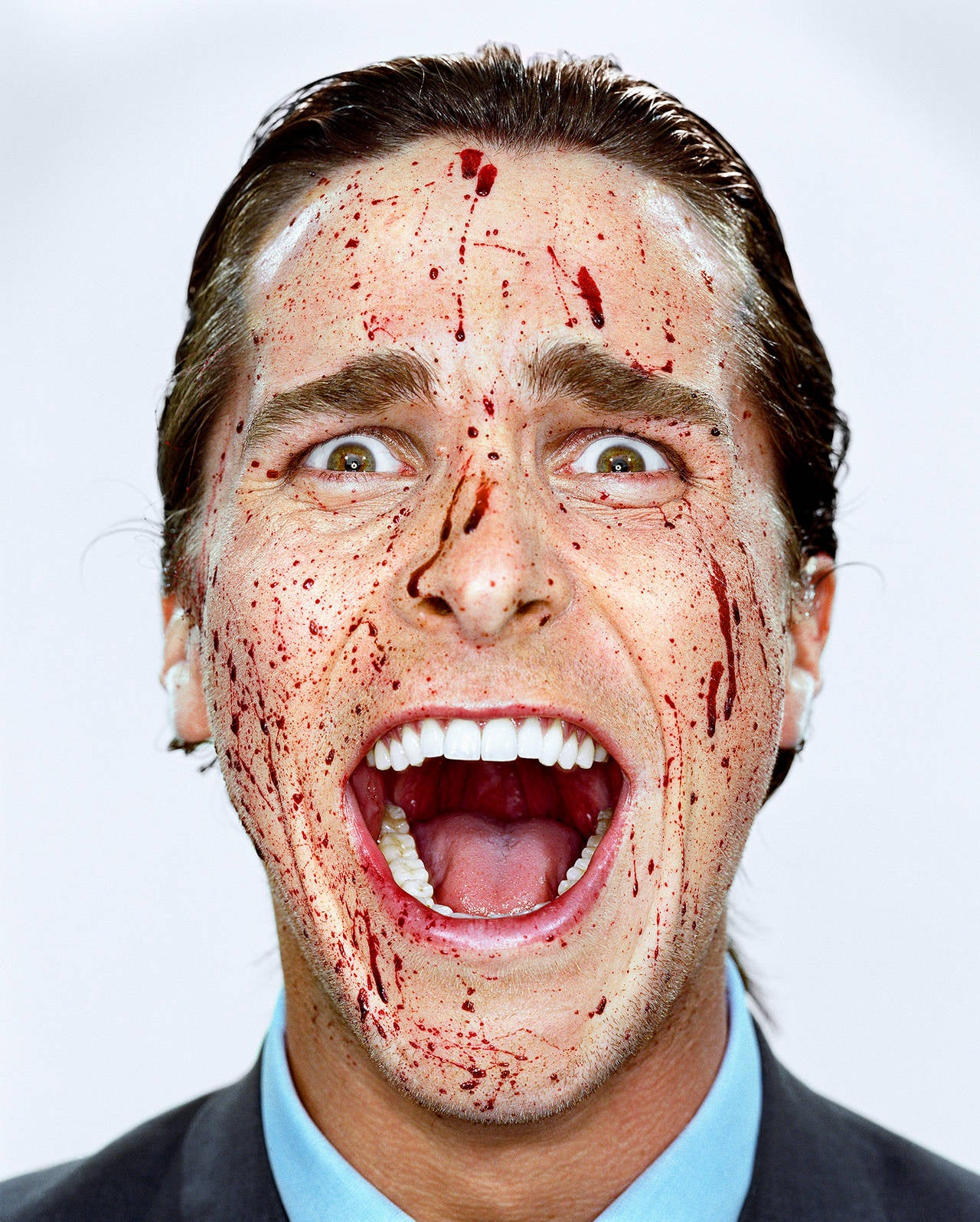 Martin Schoeller Christian Bale With Blood New York Ny