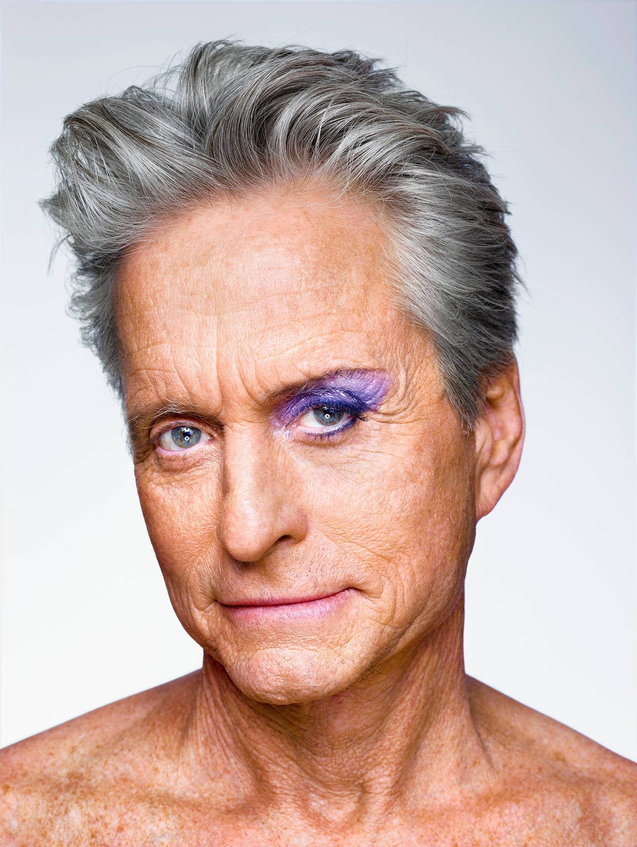 Martin Schoeller Michael Douglas With Eyeshadow New