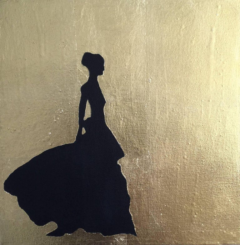Silhouette, 4 paintings - Painting by K. Odal