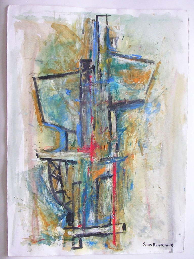 Untitled - Abstract Painting by Stefan van Bolderick