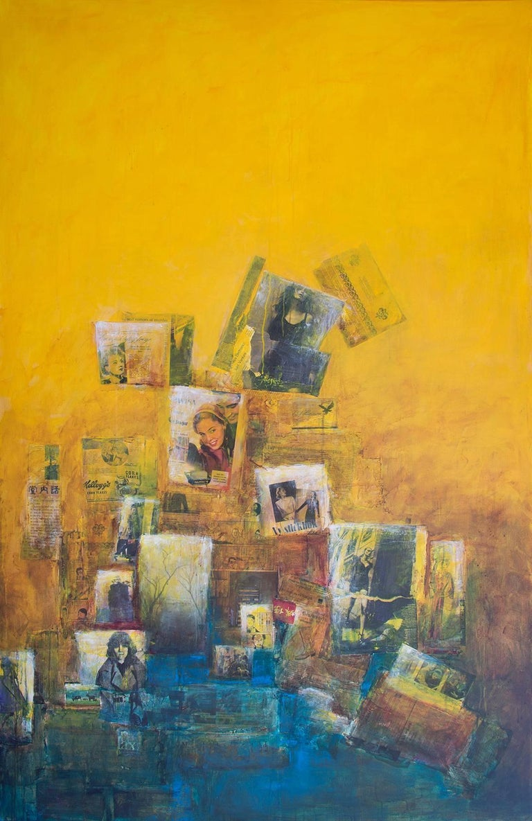 Robert van Bolderick Abstract Painting - The more I look at it, the more I like it, yellow ochra painting