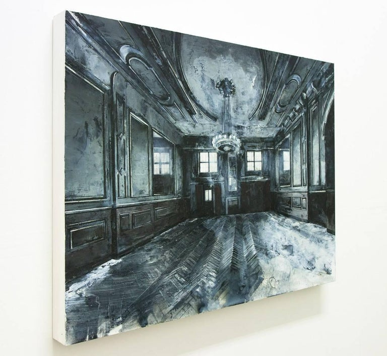 The paintings in particular are works of memory – the slow development or exposure of a photograph being both a useful metaphor and an actuality in my practice. The filter of memory appears to retain only what is personally important, and the